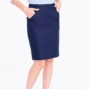 J Crew Pencil Skirt in Navy